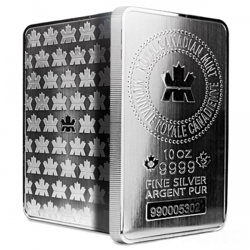 10 OZ ROYAL CANADIAN MINT SILVER BAR