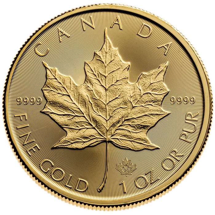 2020 1 OZ CANADIAN GOLD MAPLE LEAF COIN