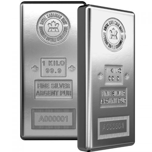 1 KILO ROYAL CANADIAN MINT SILVER BAR